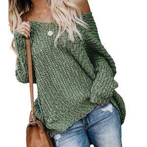 LEOKADIA Popcorn Knit Slouchy Sweater